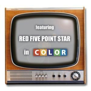 Red Five Point Star - In Color